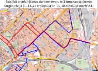 17.oktobrī Avotu ielas remontdarbu dēļ tiks veiktas izmaiņas atsevišķu autobusu un trolejbusu maršrutos