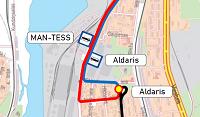 Būvdarbu dēļ Tvaika ielā no 7. līdz 9. augustam būs izmaiņas 5. maršruta tramvaja satiksmē
