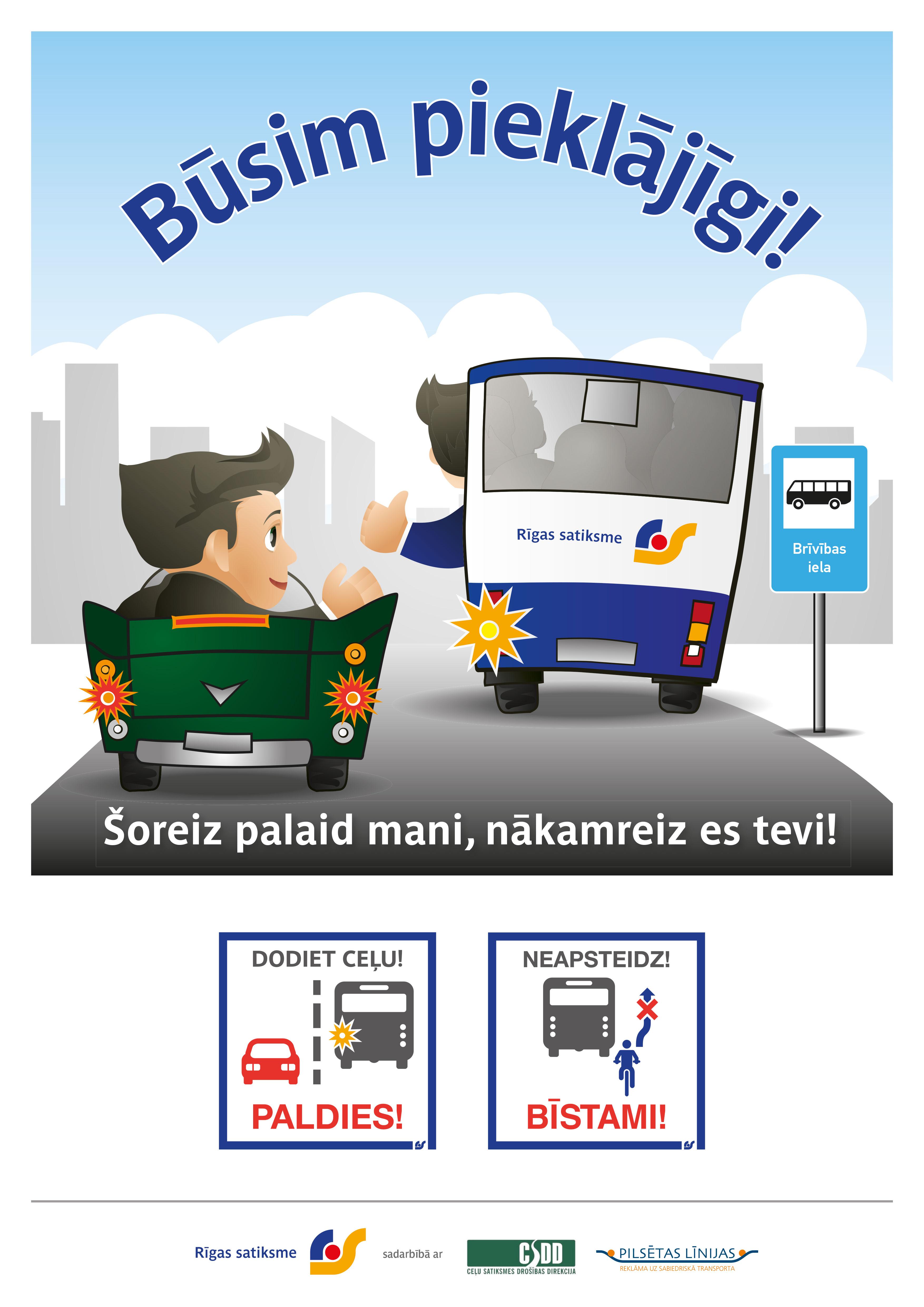 """Rīgas satiksme launches campaign """"Let's be polite!"""" : News ..."""