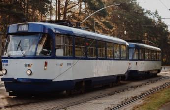 Трамвай (2 вагона) Tatra T3A; Tatra T3M